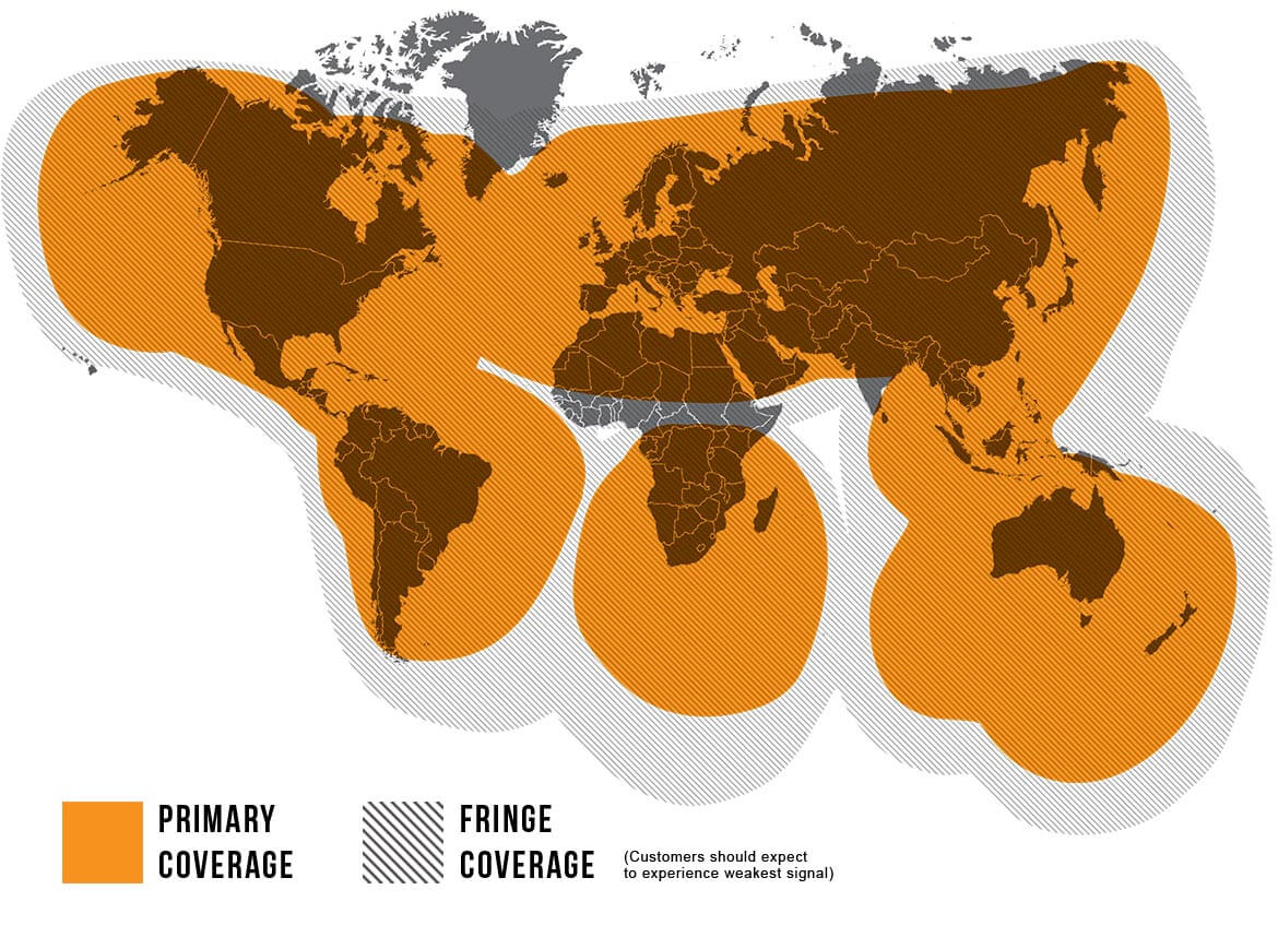 Globalstar SmartOne Coverage Map